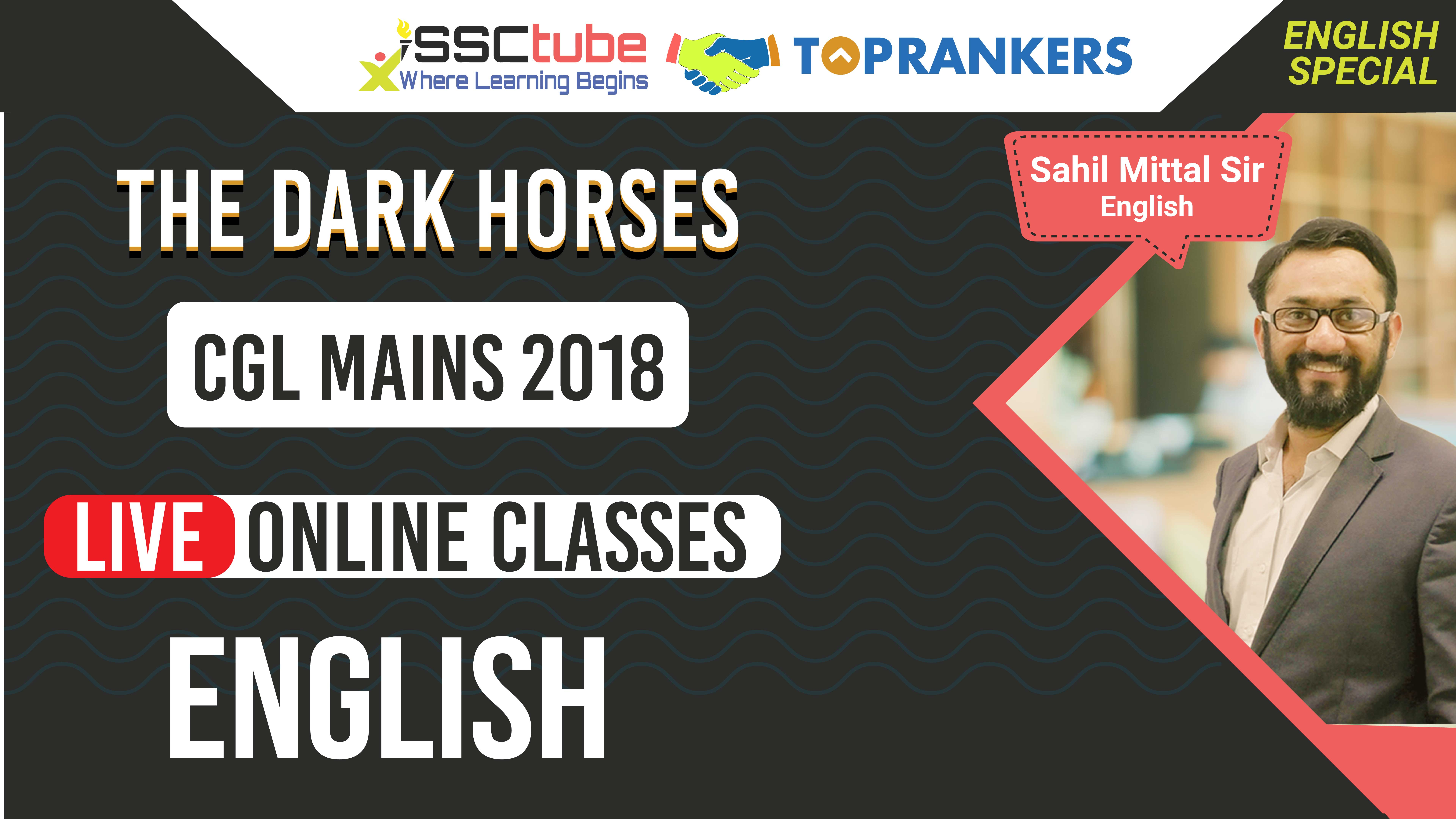 English Session 23 | SSC MAINS | by Sahil Sir