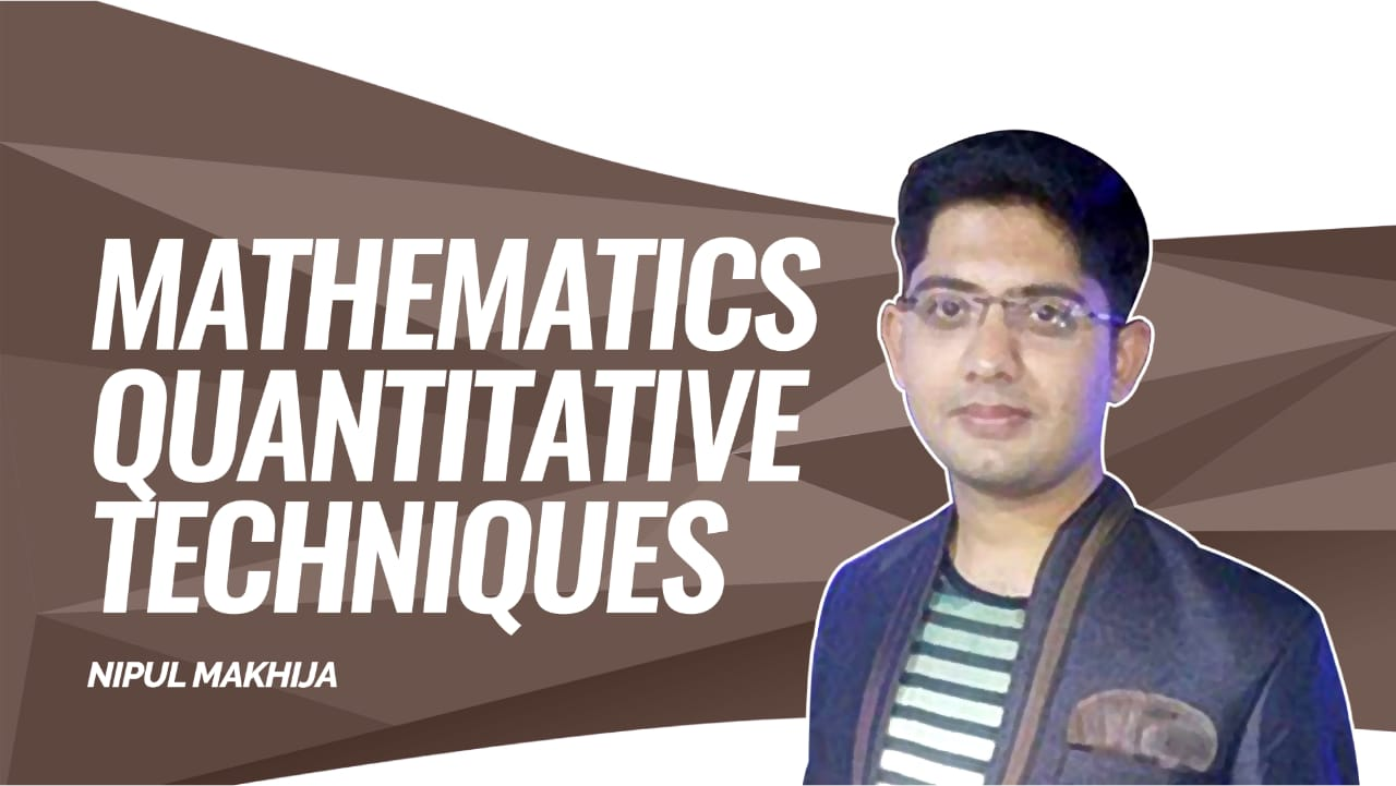 CLAT Gold | Quantitative Techniques | Percentage - 1 | by Nipul Sir