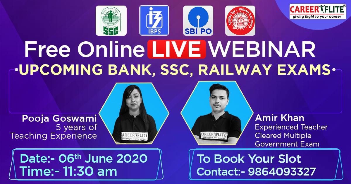 Online LIVE Webinar for Upcoming Bank, SSC, Railway Exams