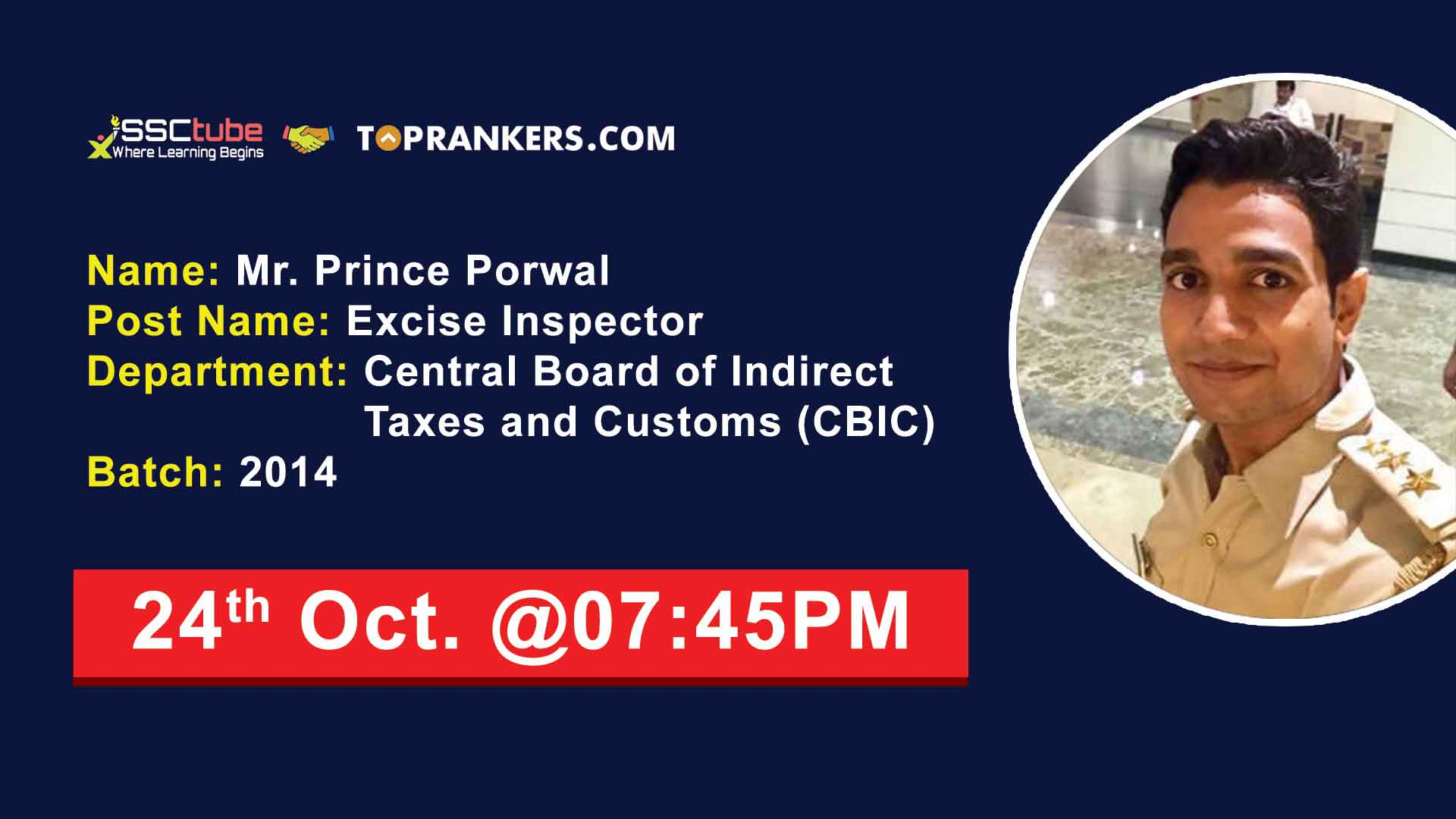 Live Interactive Session with Excise Inspector Mr. Prince Porwal