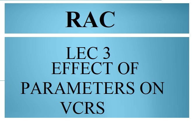 LEC 3 EFFECT OF PARAMETERS ON VCRS