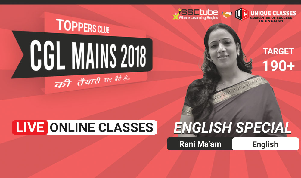 Session 08-Part-II | English Tier-II | by Rani Ma'am