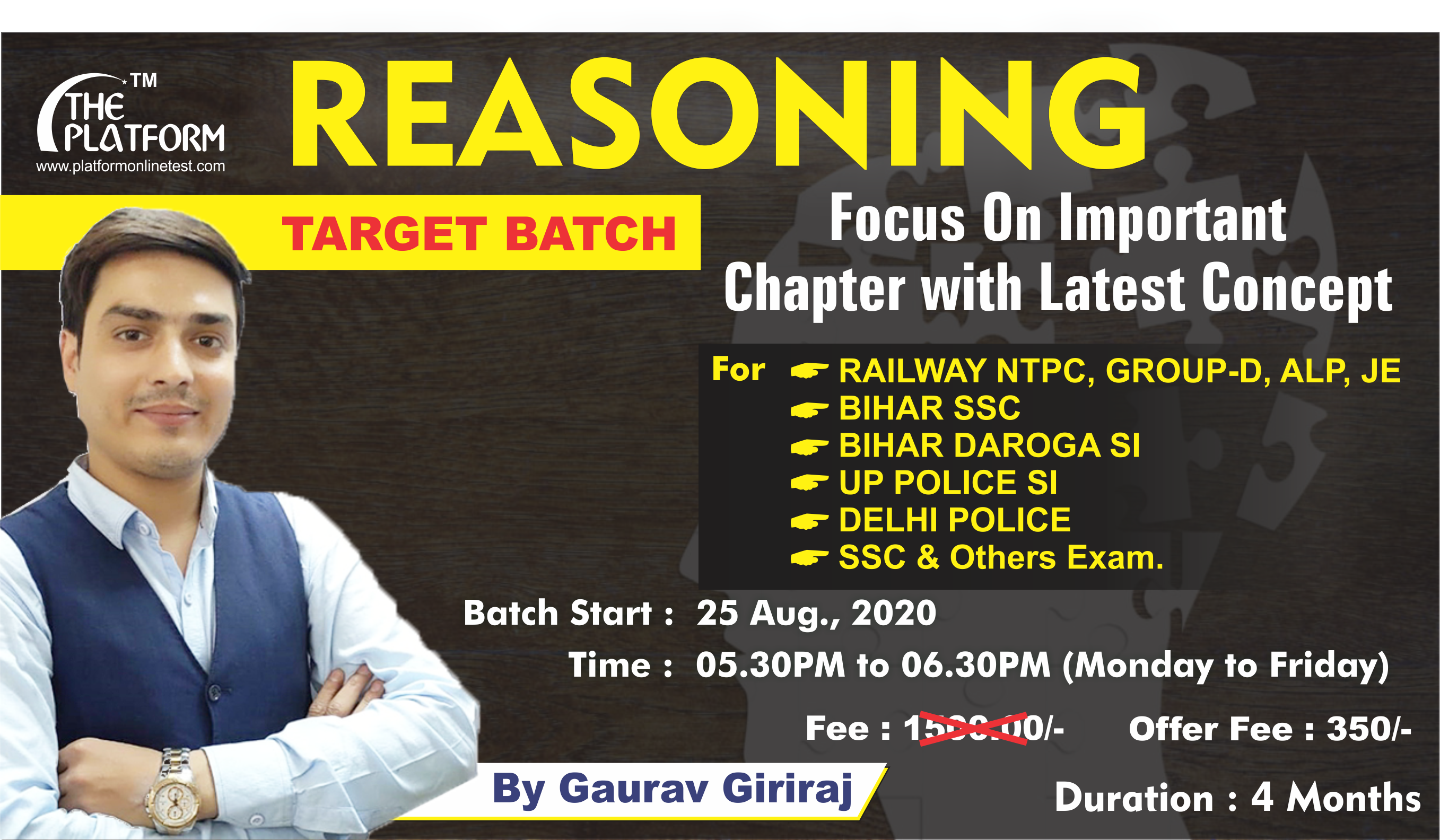 26-REASONING : Target By Gaurav Giriraj, Session-01
