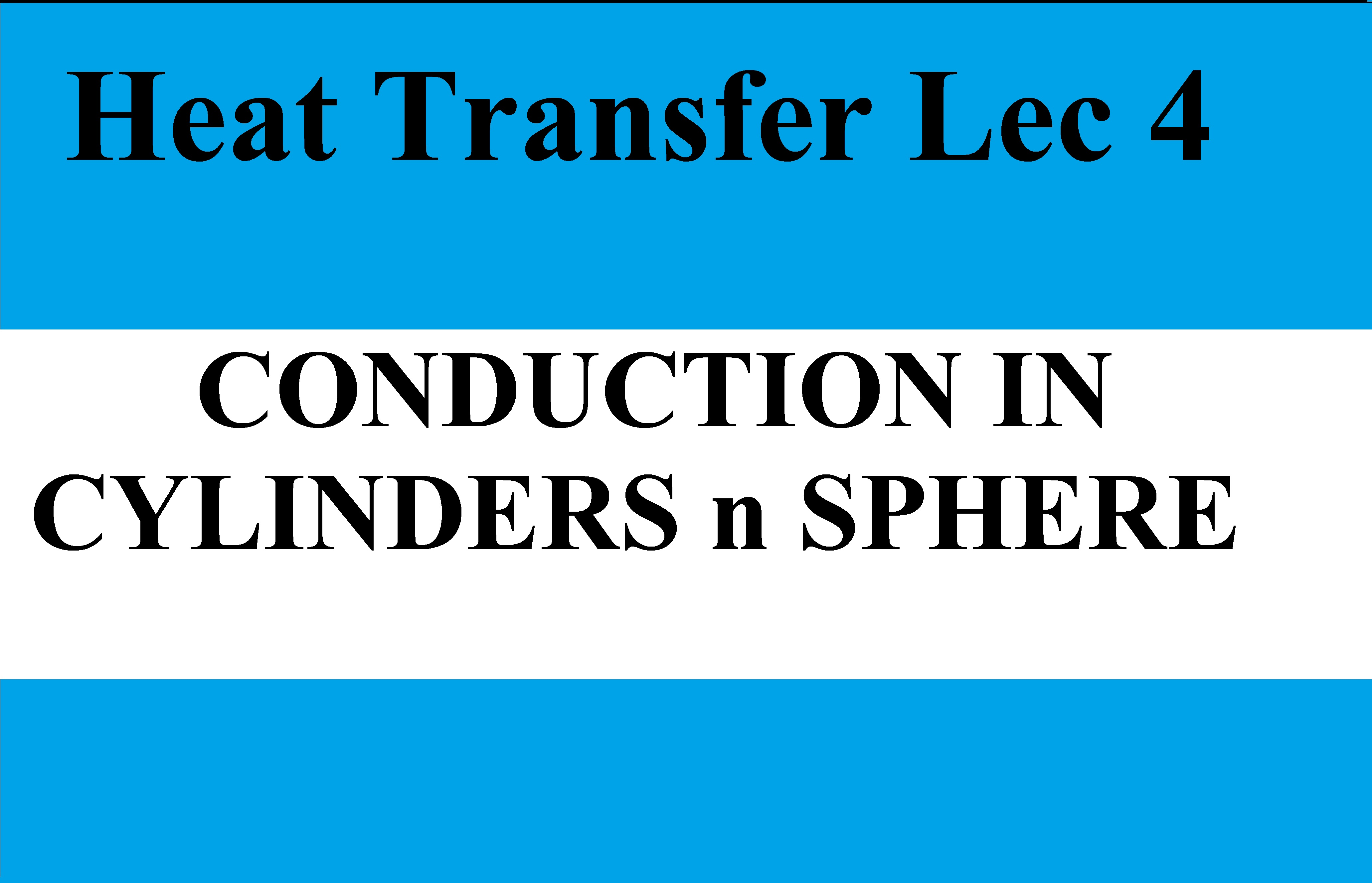 Lec 4 Conduction In Cylinder and Sphere (Composite Body)