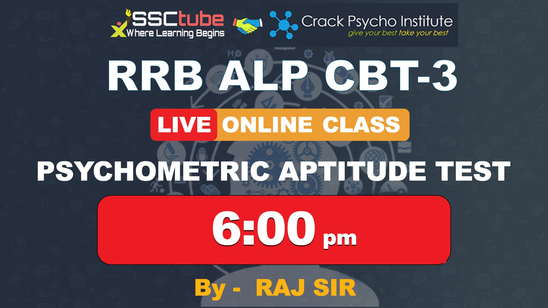 Session 6 | Psychometric Aptitude Test | By Raj Sir