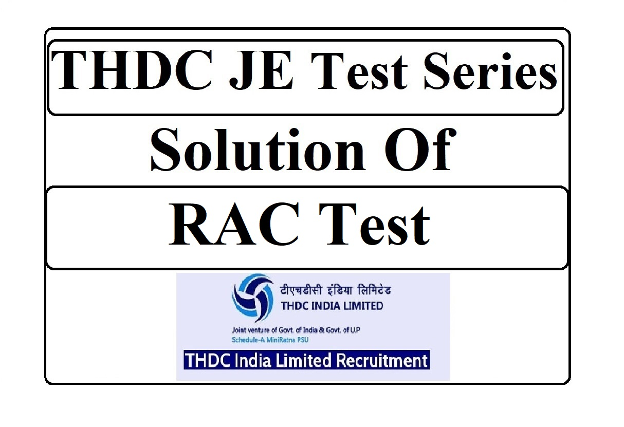 THDC JE Solution of RAC Test