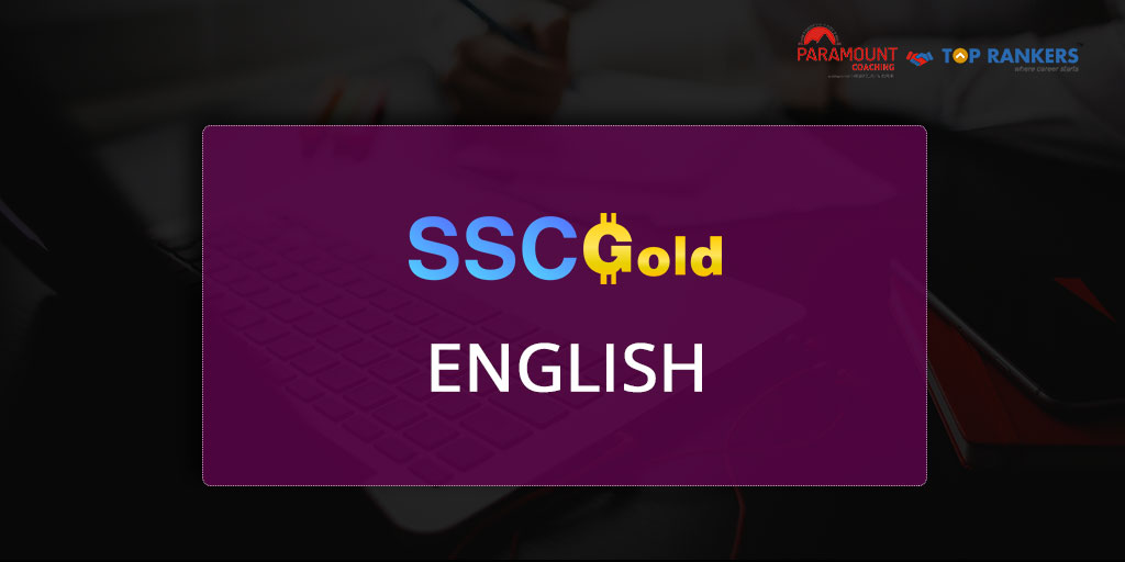 English | SSC Gold by Vijay Sir