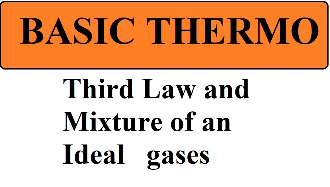Lec 21 Third Law and Mixture of an Ideal gases