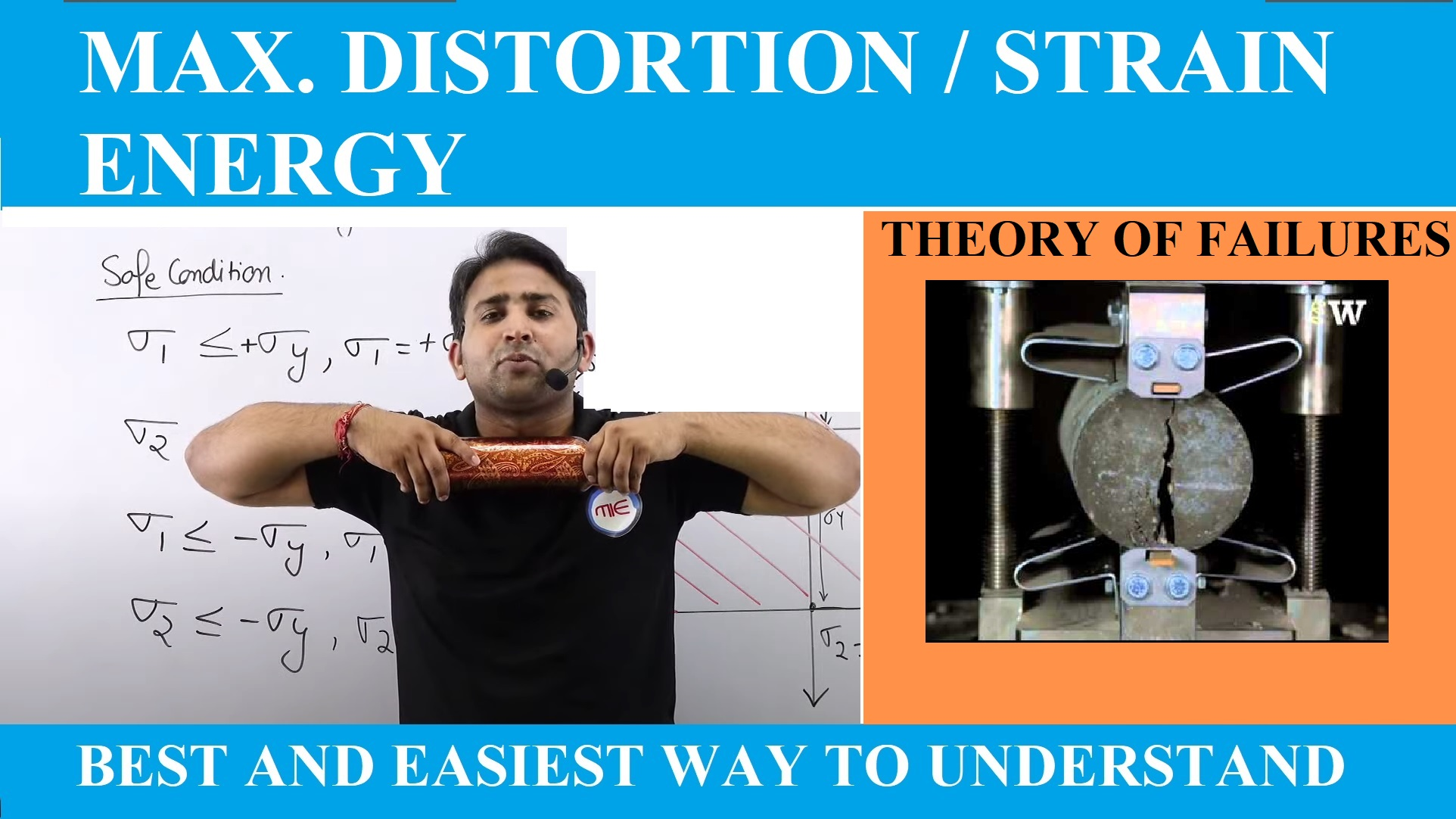 Lec 3 Theory of Failures (Total Strain energy and Distortion Energy Theory)