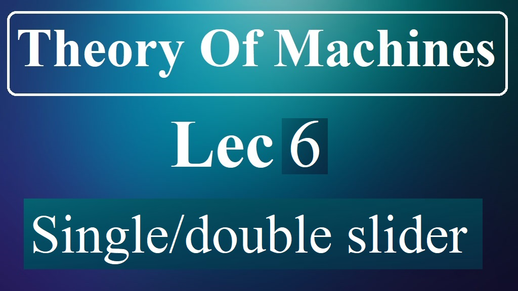 Lec 6 Single and Double Slider Mechanisms
