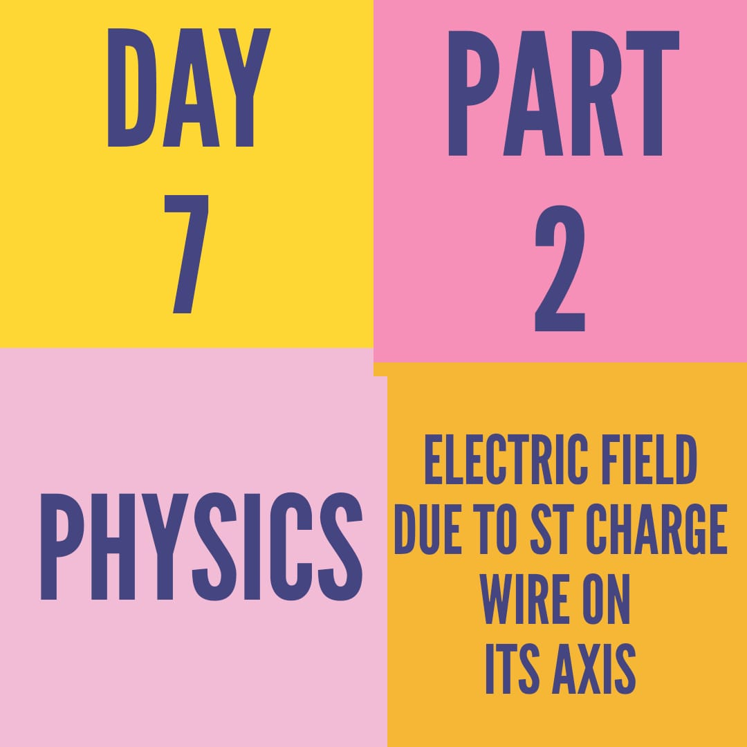 DAY-7-PART-2-ELECTRIC FIELD DUE TO ST CHARGE WIRE ON ITS AXIS