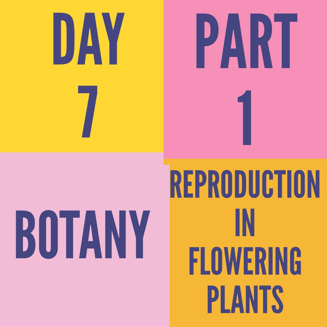 DAY-7-PART-1- REPRODUCTION IN FLOWERING PLANTS