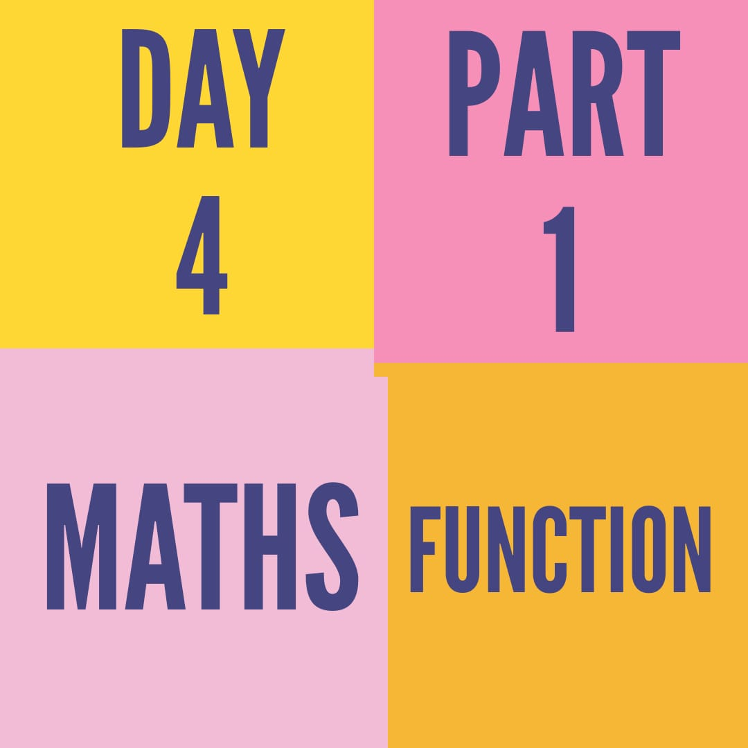 DAY-4-PART-1- FUNCTION