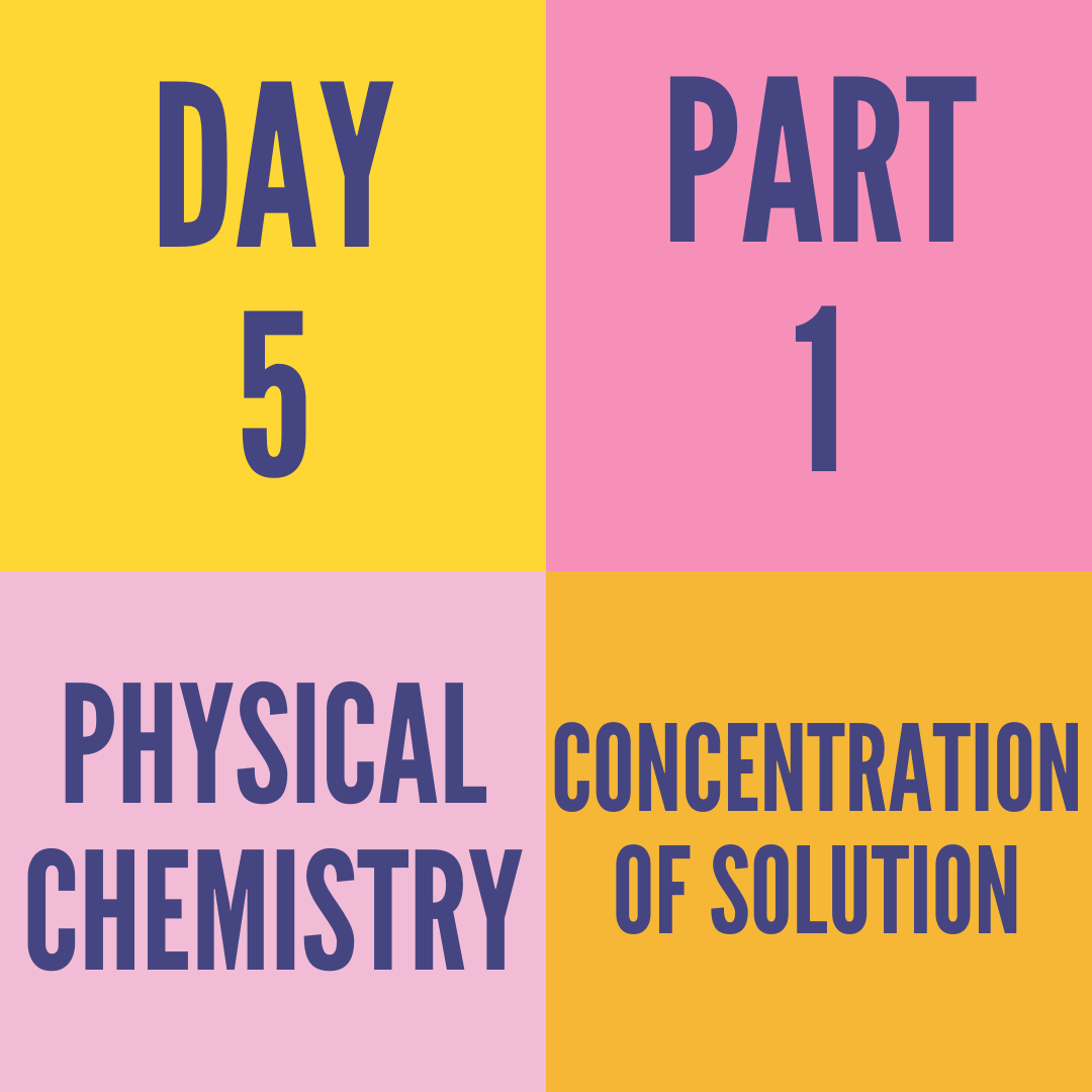 DAY-5 PART-1 CONCENTRATION OF SOLUTION
