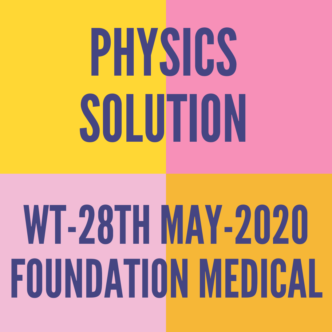WT-28TH MAY-2020-FOUNDATION MEDICAL PHYSICS SOLUTION