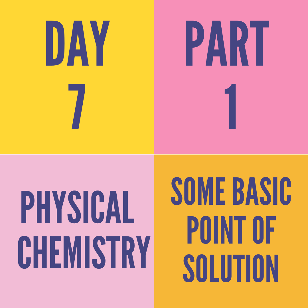 DAY-7 PART-1 SOME BASIC POINT OF SOLUTION