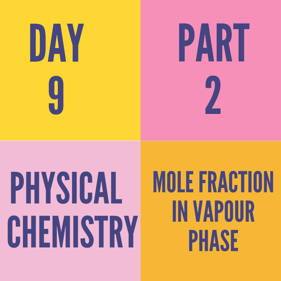 DAY-9 PART-2 MOLE FRACTION IN VAPOUR PHASE