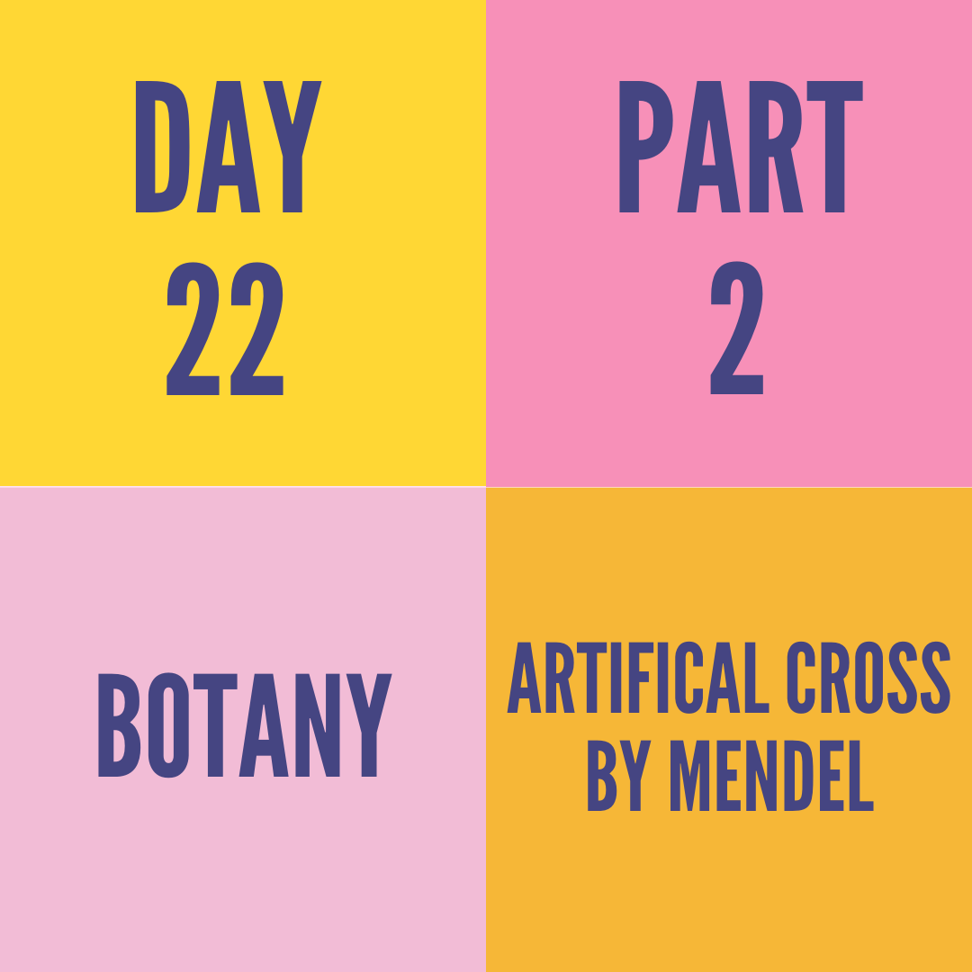 DAY-22 PART-2 ARTIFICAL CROSS BY MENDEL
