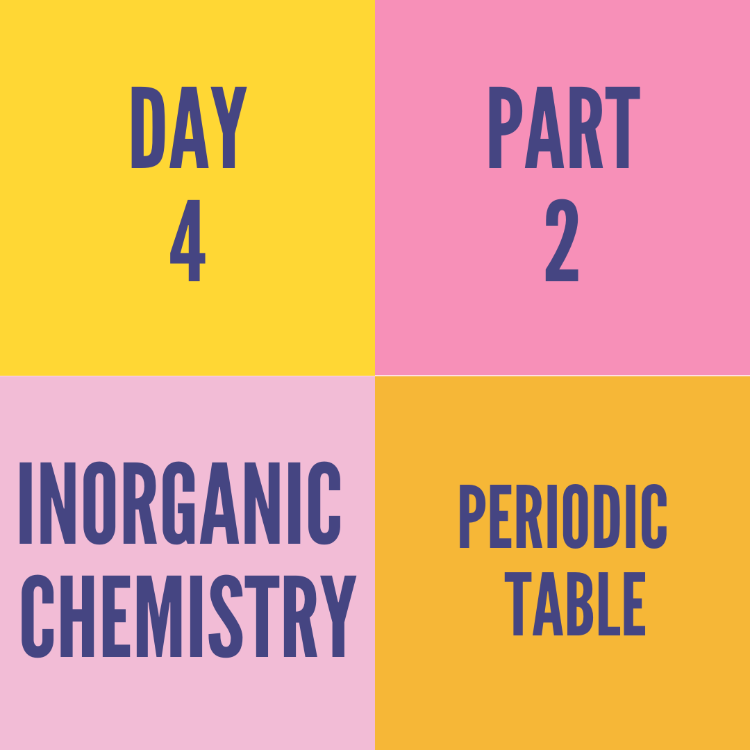 DAY-4 PART-2 PERIODIC TABLE