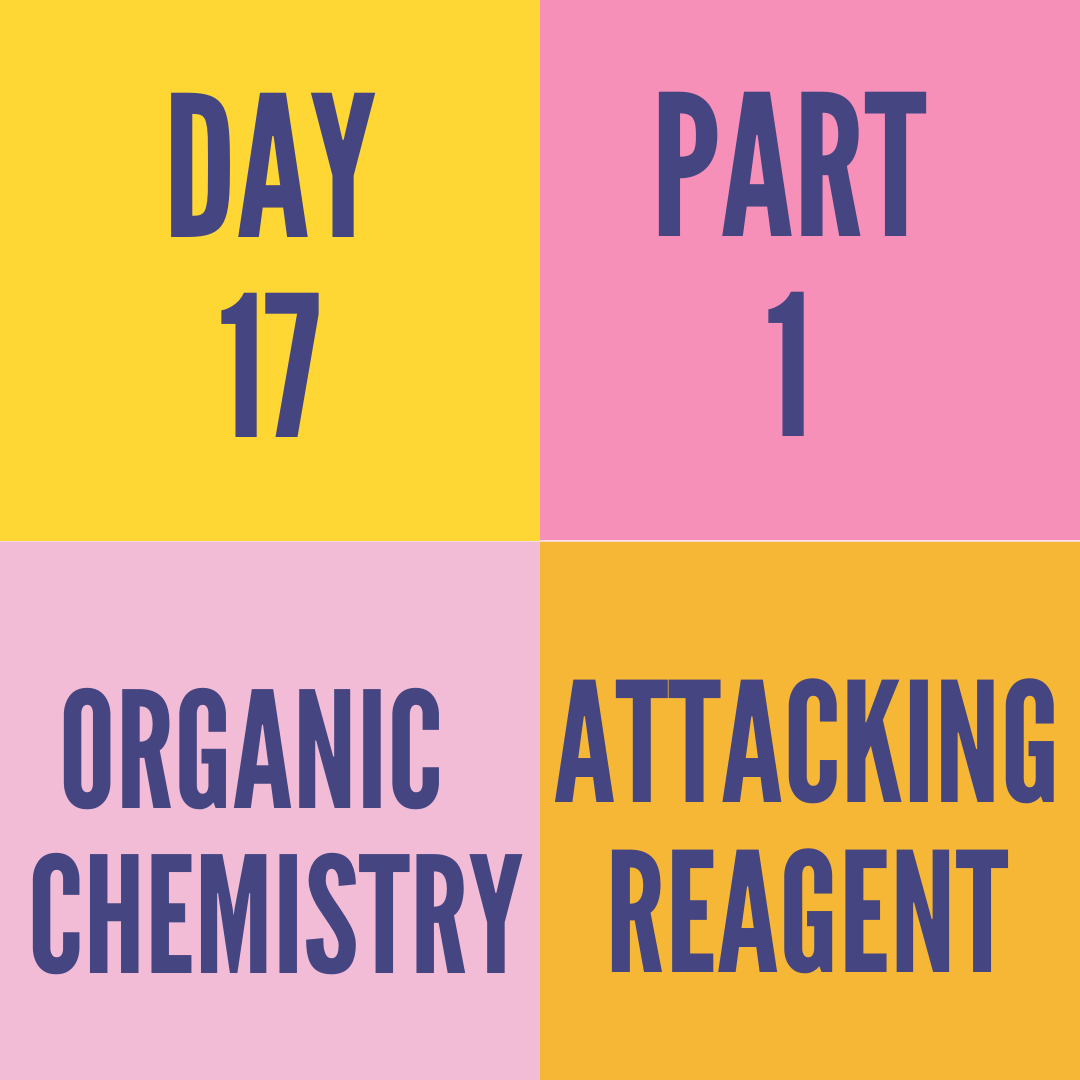 DAY-17 PART-1 ATTACKING REAGENT