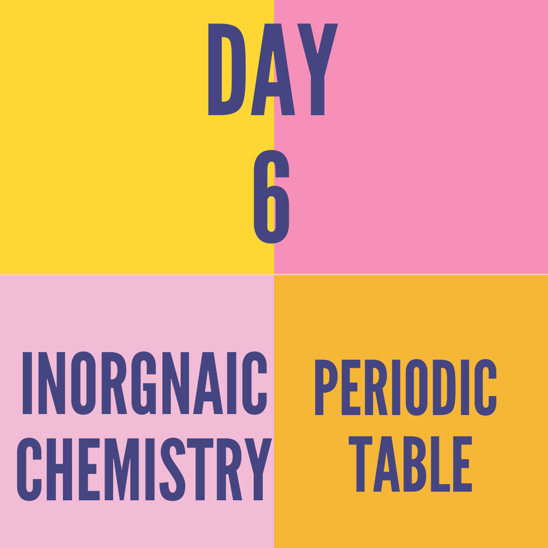 DAY-6 PERIODIC TABLE