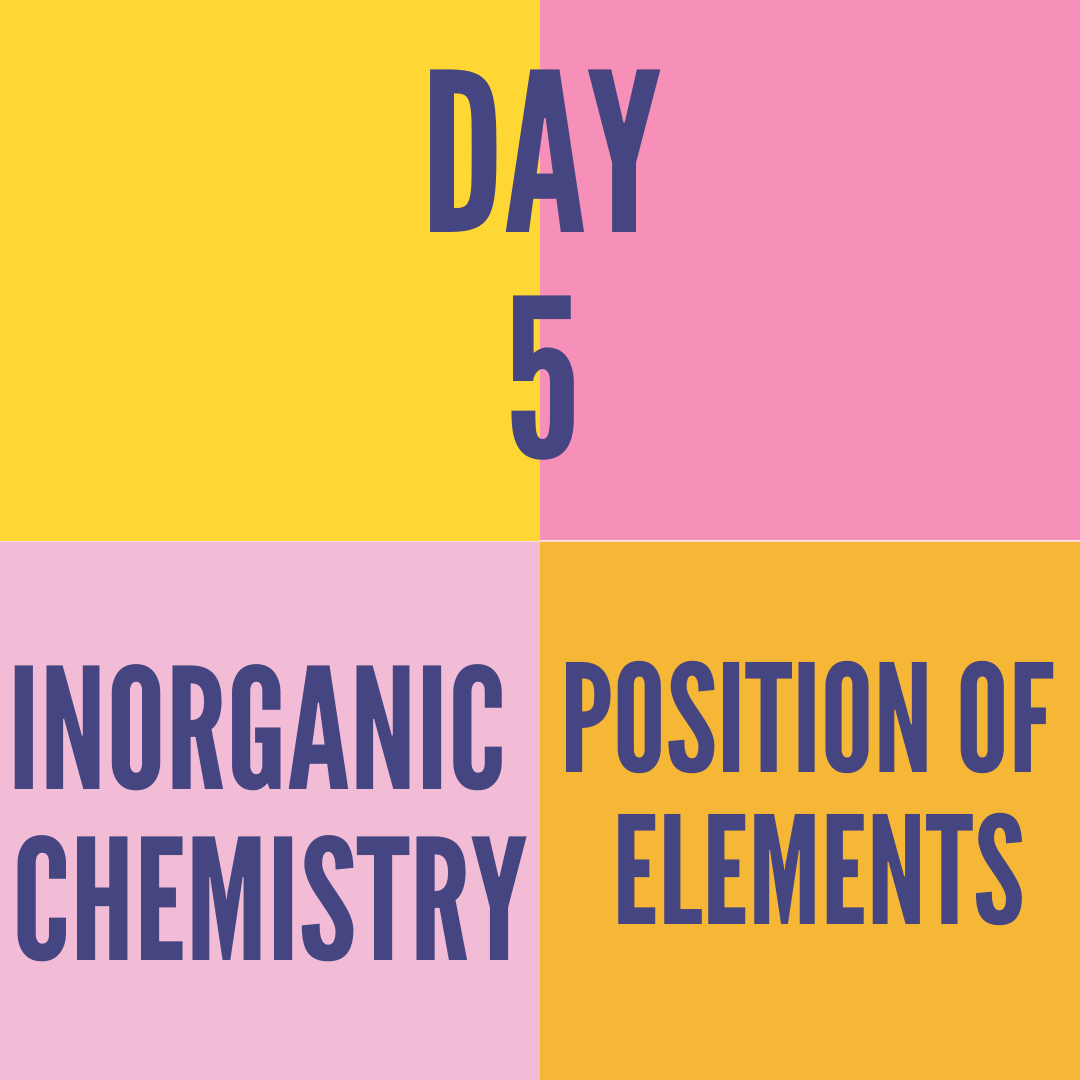 DAY-5 POSITION OF ELEMENTS