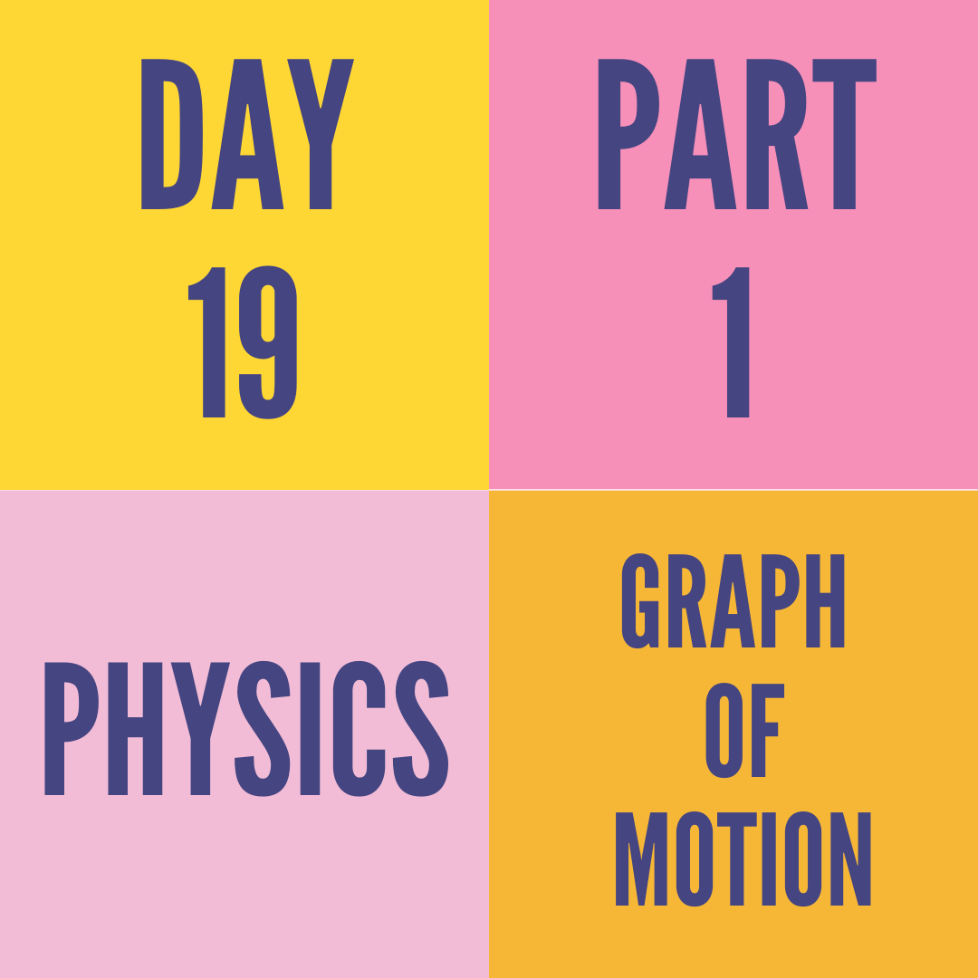 DAY-19  PART-1 GRAPHS OF MOTION