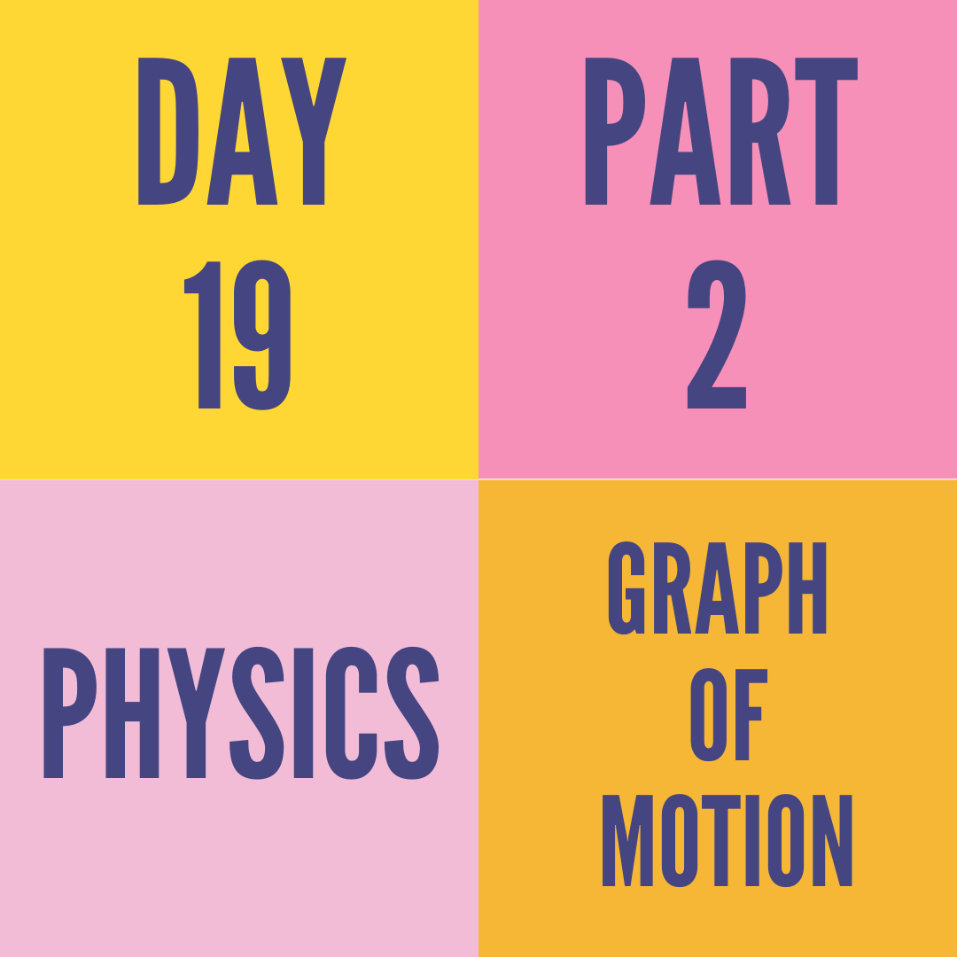 DAY-19  PART-2 GRAPHS OF MOTION