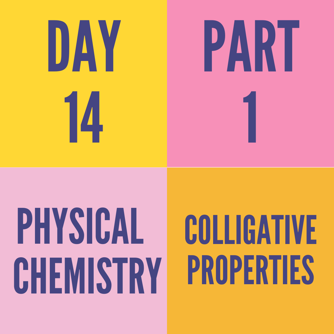DAY-14 PART-1 COLLIGATIVE PROPERTIES