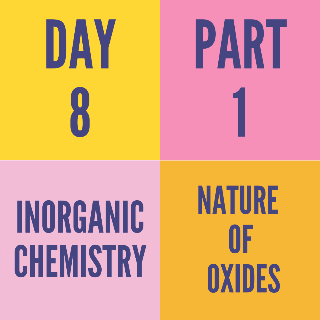 DAY-8 PART-1 NATURE OF OXIDES
