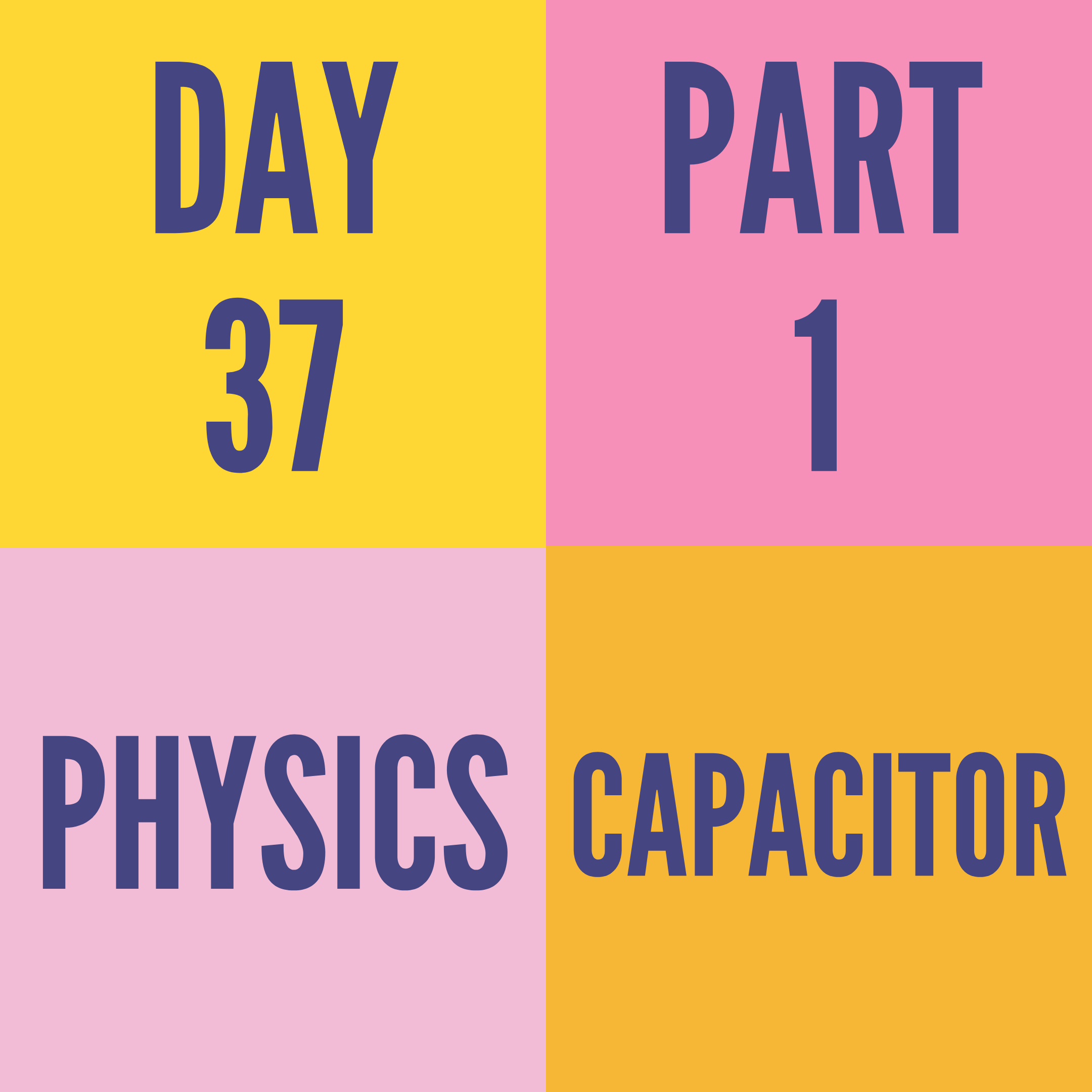 DAY-37 PART-1 CAPACITOR