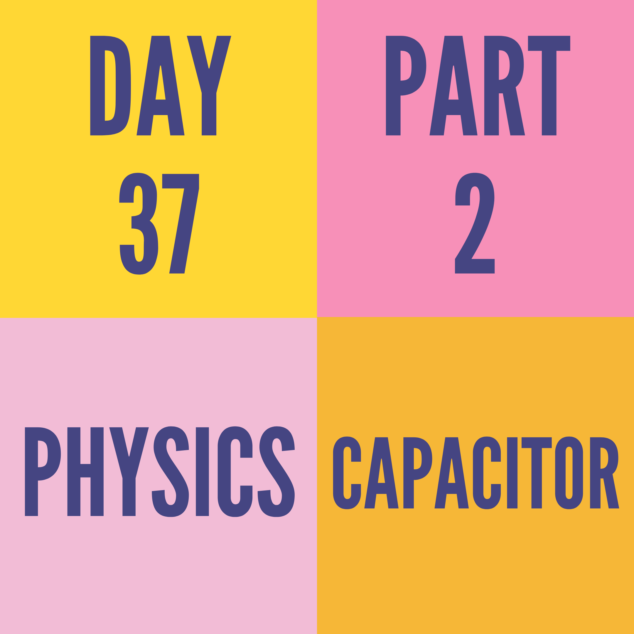 DAY-37 PART-2 CAPACITOR