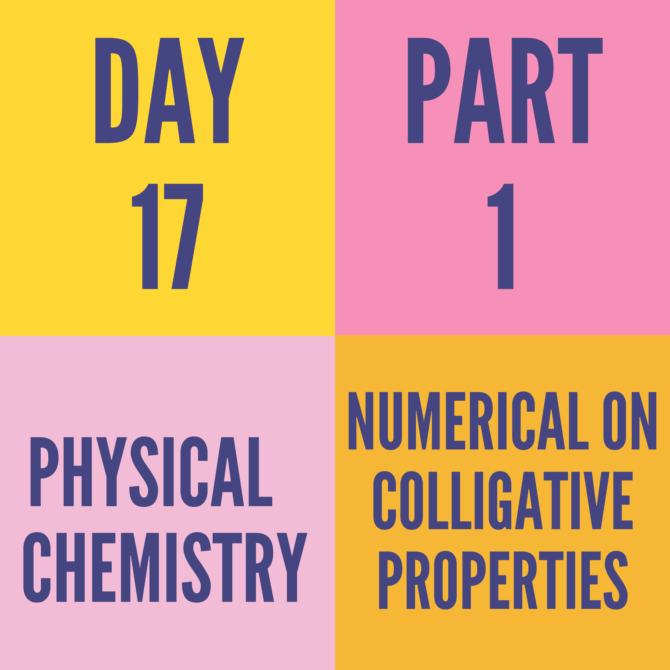 DAY-17 PART-1 NUMERICAL ON COLLIGATIVE PROPERTIES