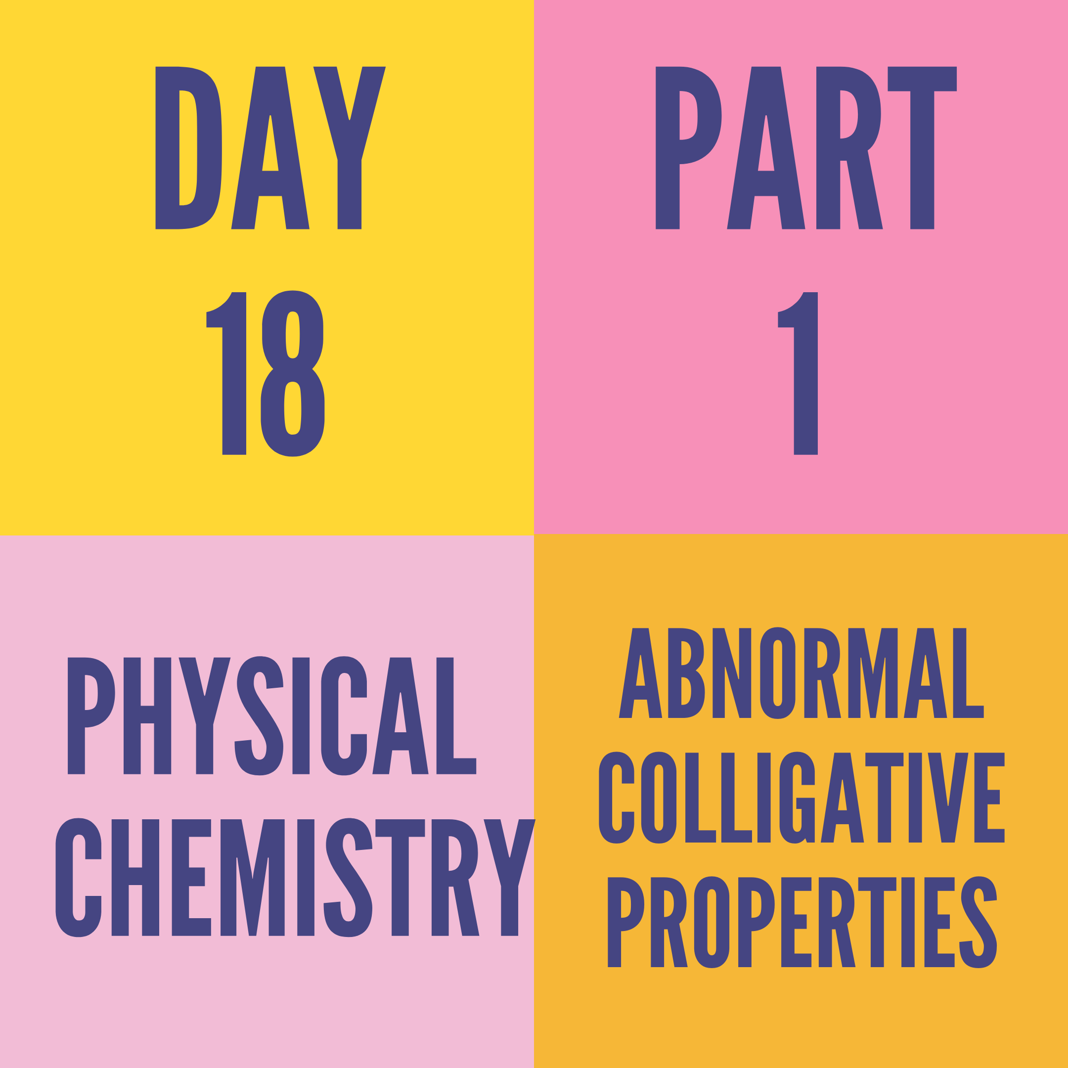 DAY-18 PART-1 ABNORMAL COLLIGATIVE PROPERTIES
