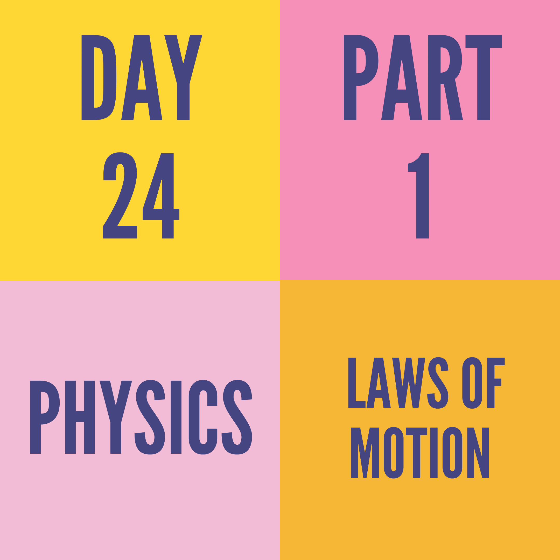 DAY-24 PART-1 LAWS OF MOTION