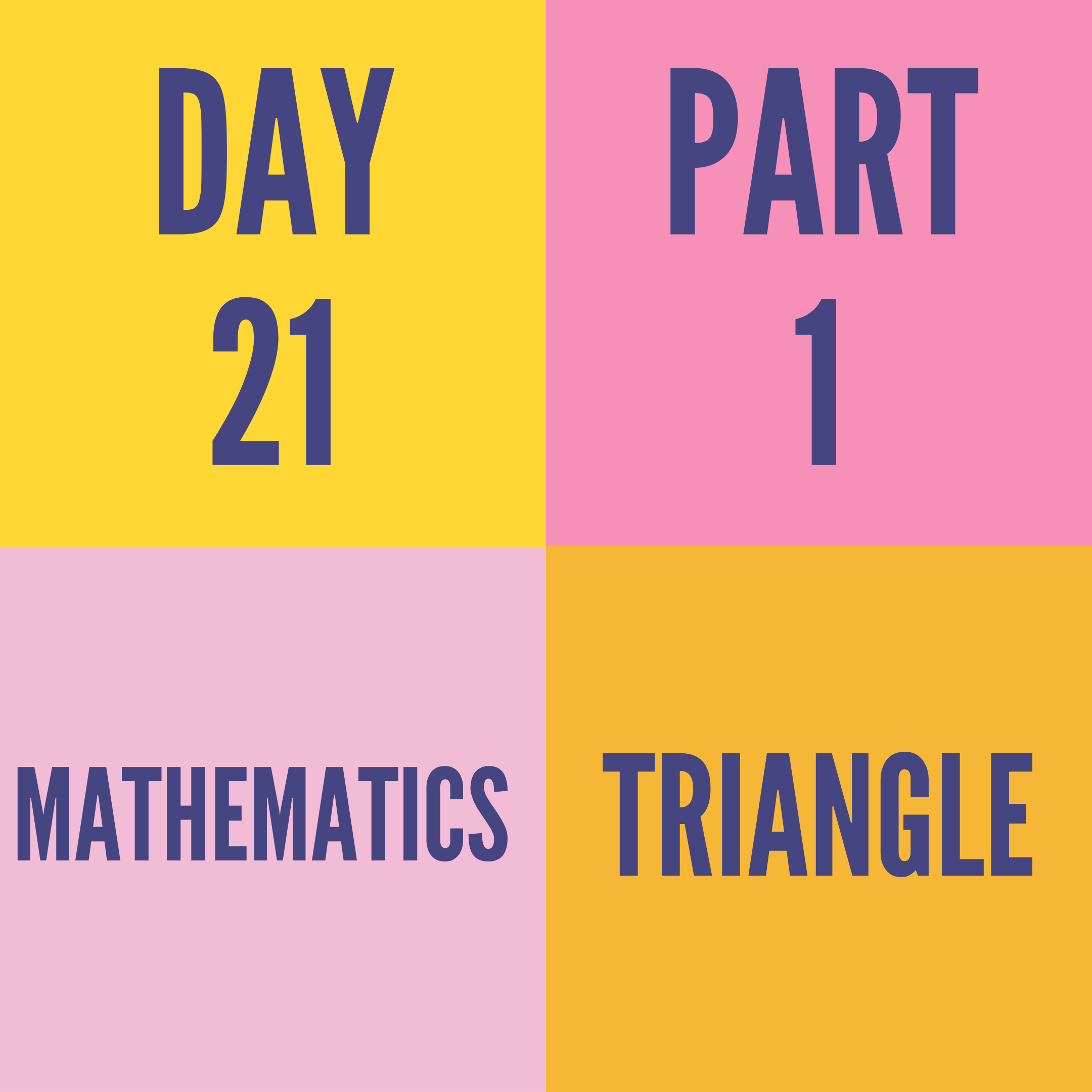 DAY-21 PART-1 TRIANGLE