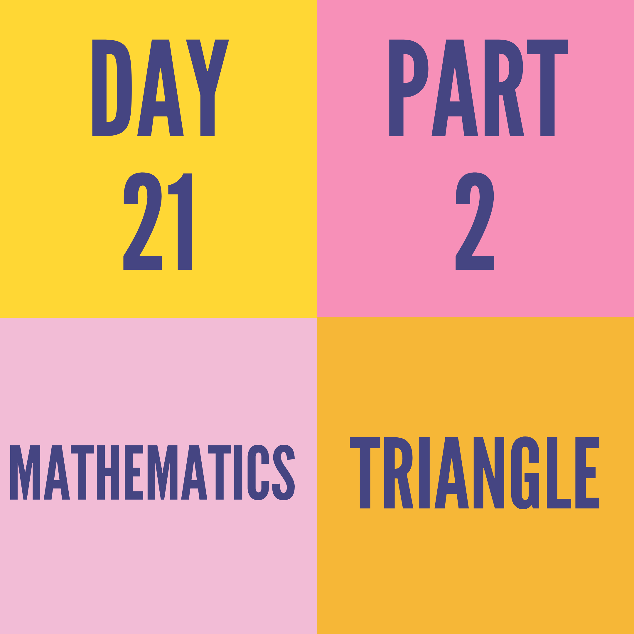DAY-21 PART-2 TRIANGLE