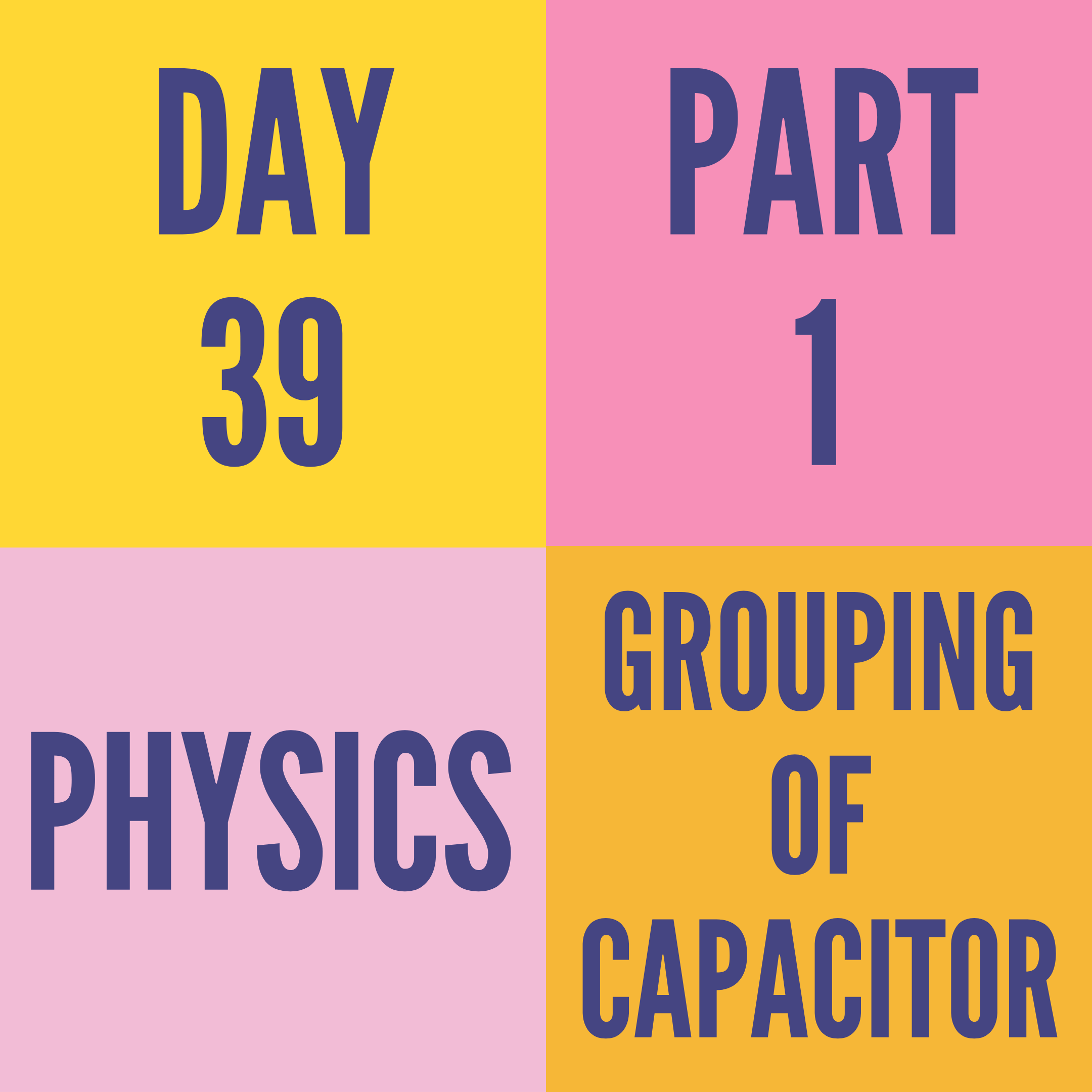 DAY-39 PART-1  GROUPING OF CAPACITOR