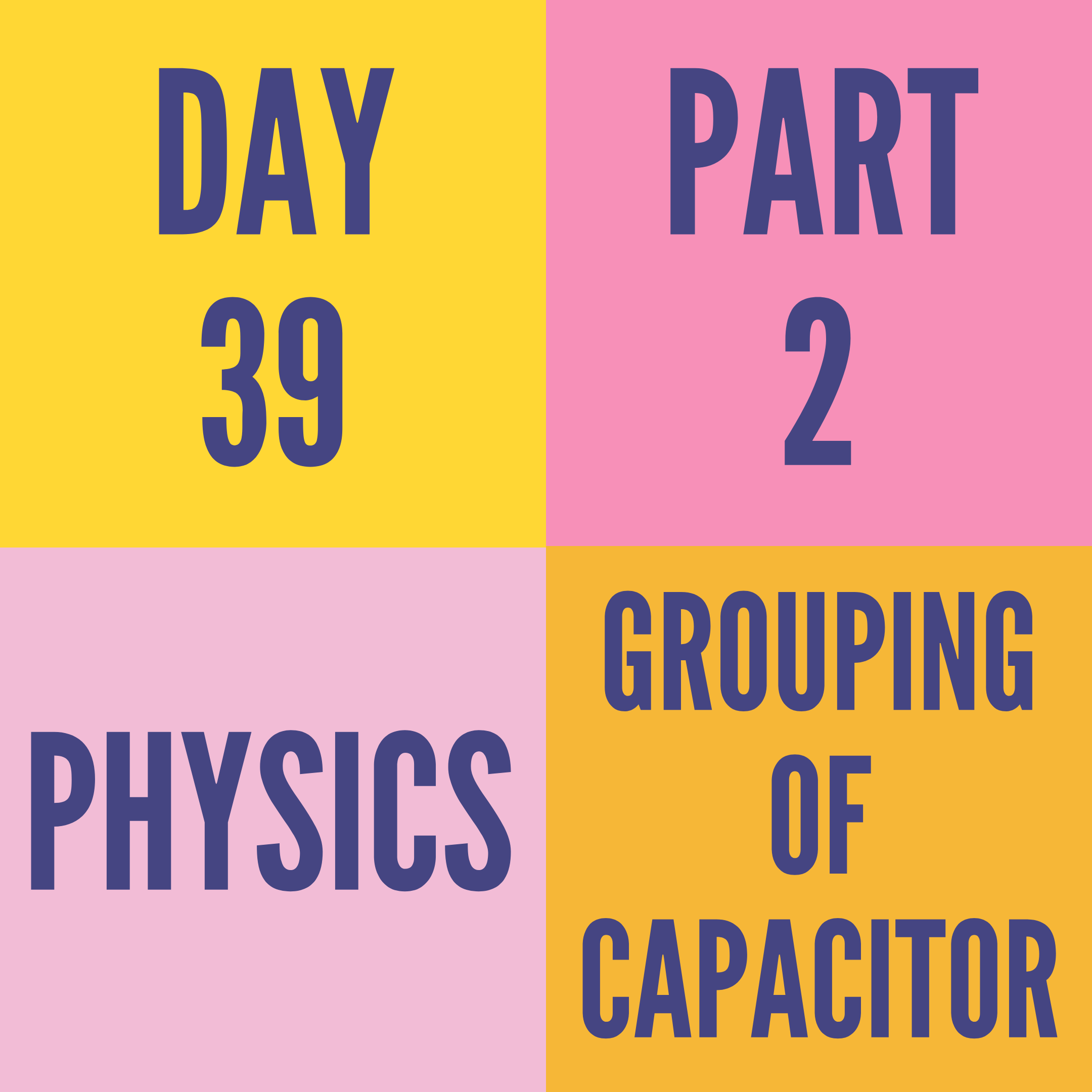 DAY-39 PART-2 GROUPING OF CAPACITOR
