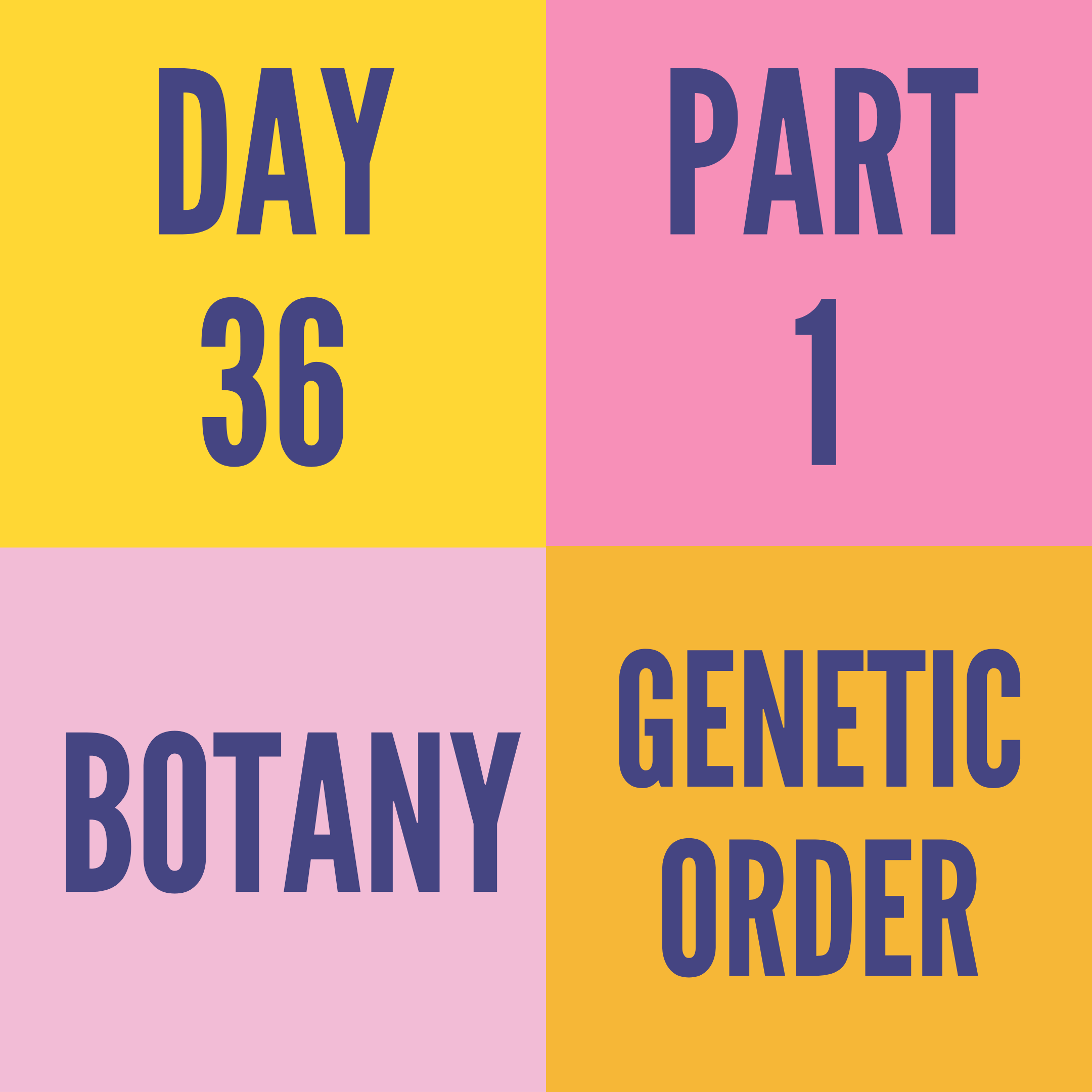 DAY-36 PART-1 GENETIC ORDER