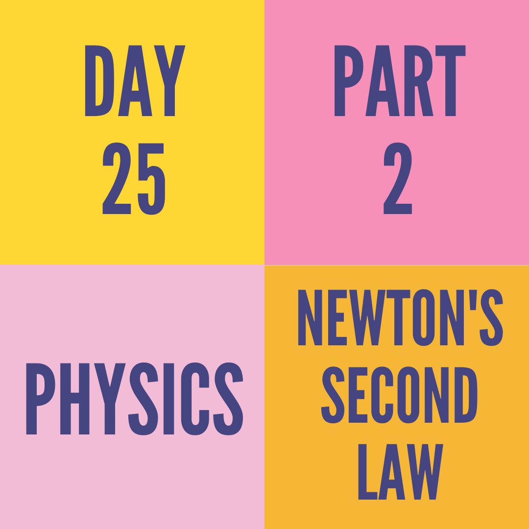 DAY-25 PART-2 NEWTON'S SECOND LAW