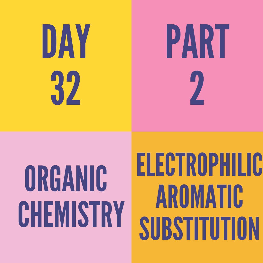 DAY-32 PART-2 ELECTROPHILIC AROMATIC SUBSTITUTION