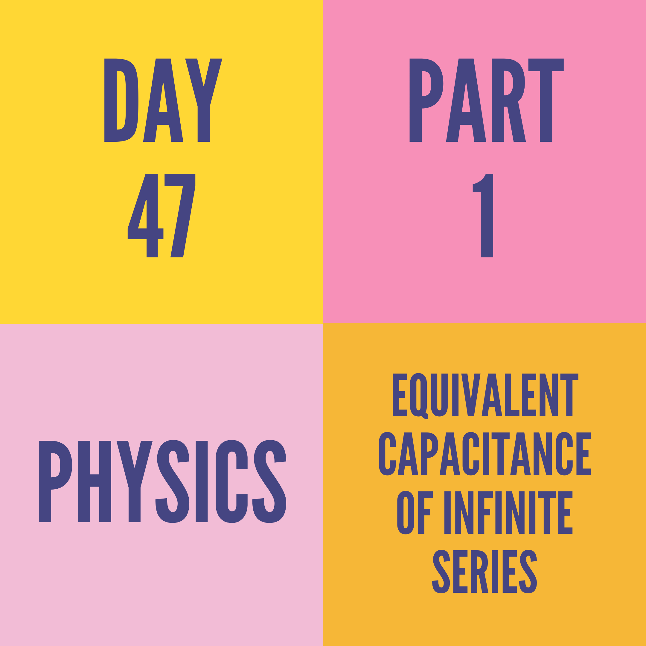 DAY-47 PART-1  EQUIVALENT CAPACITANCE OF INFINITE SERIES