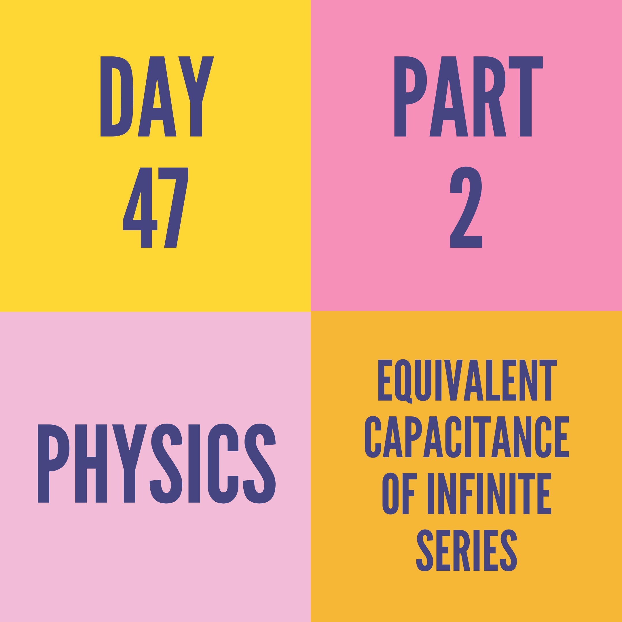 DAY-47 PART-2  EQUIVALENT CAPACITANCE OF INFINITE SERIES