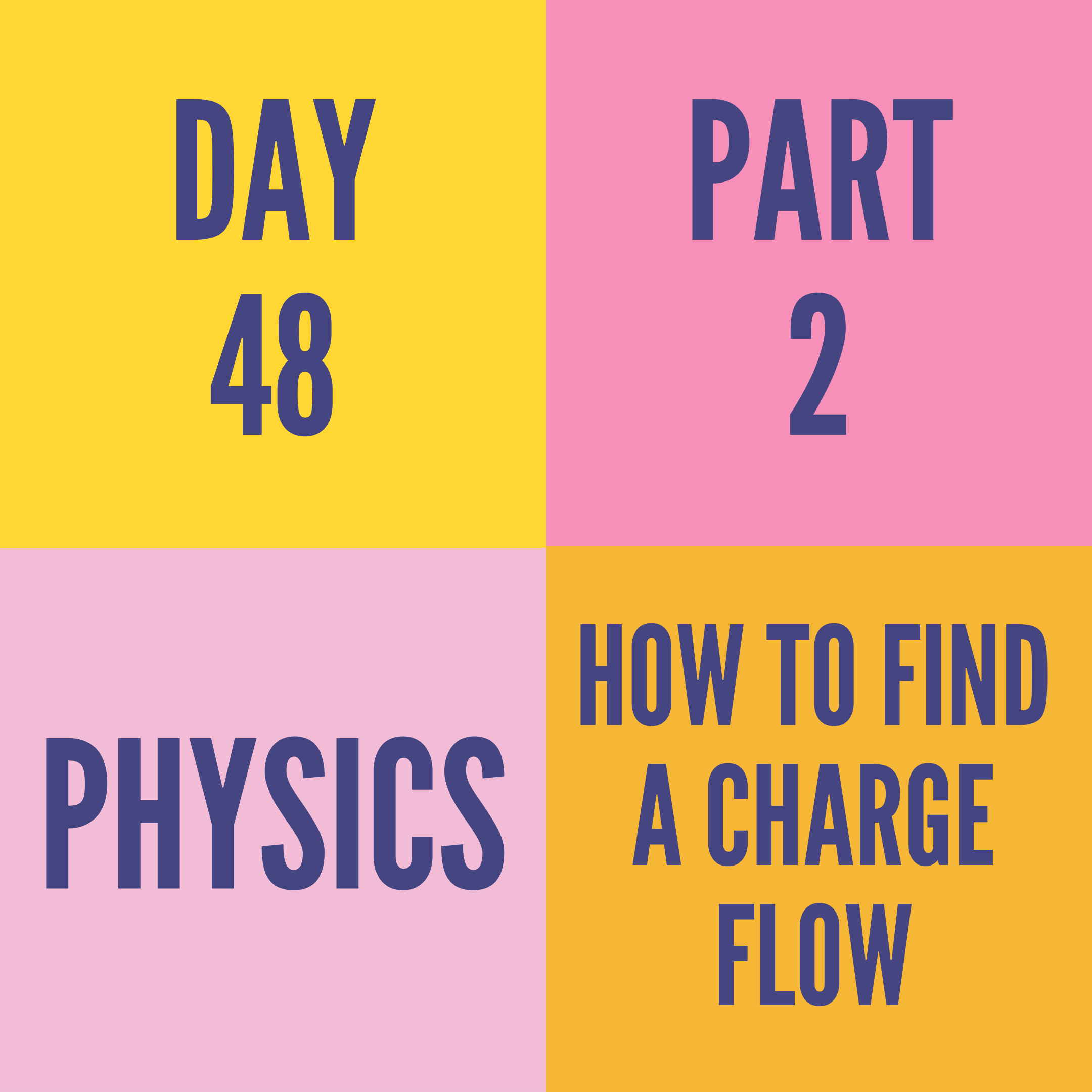 DAY-48 PART-2  HOW TO FIND A CHARGE FLOW