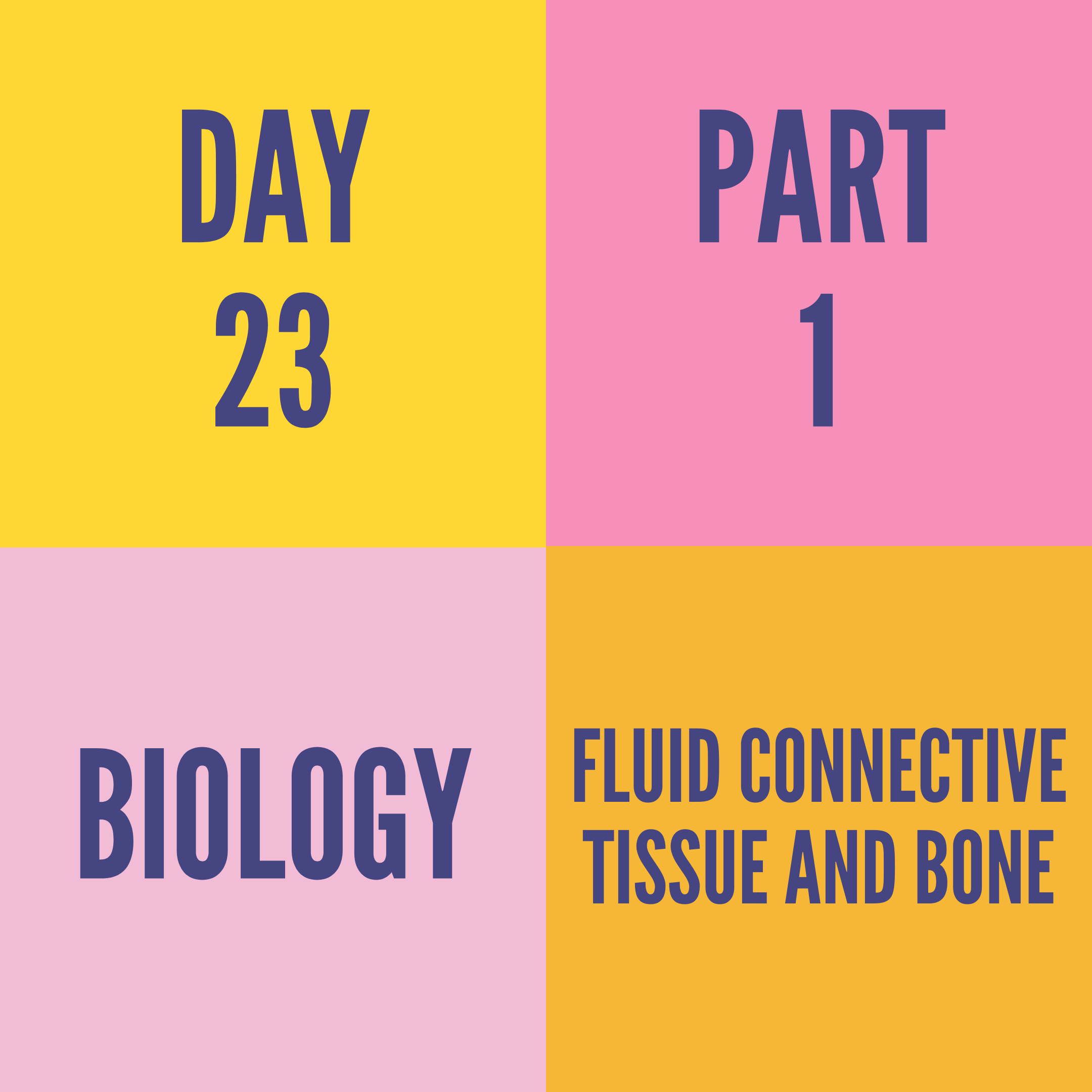 DAY-23 PART-1 FLUID CONNECTIVE TISSUE AND BONE