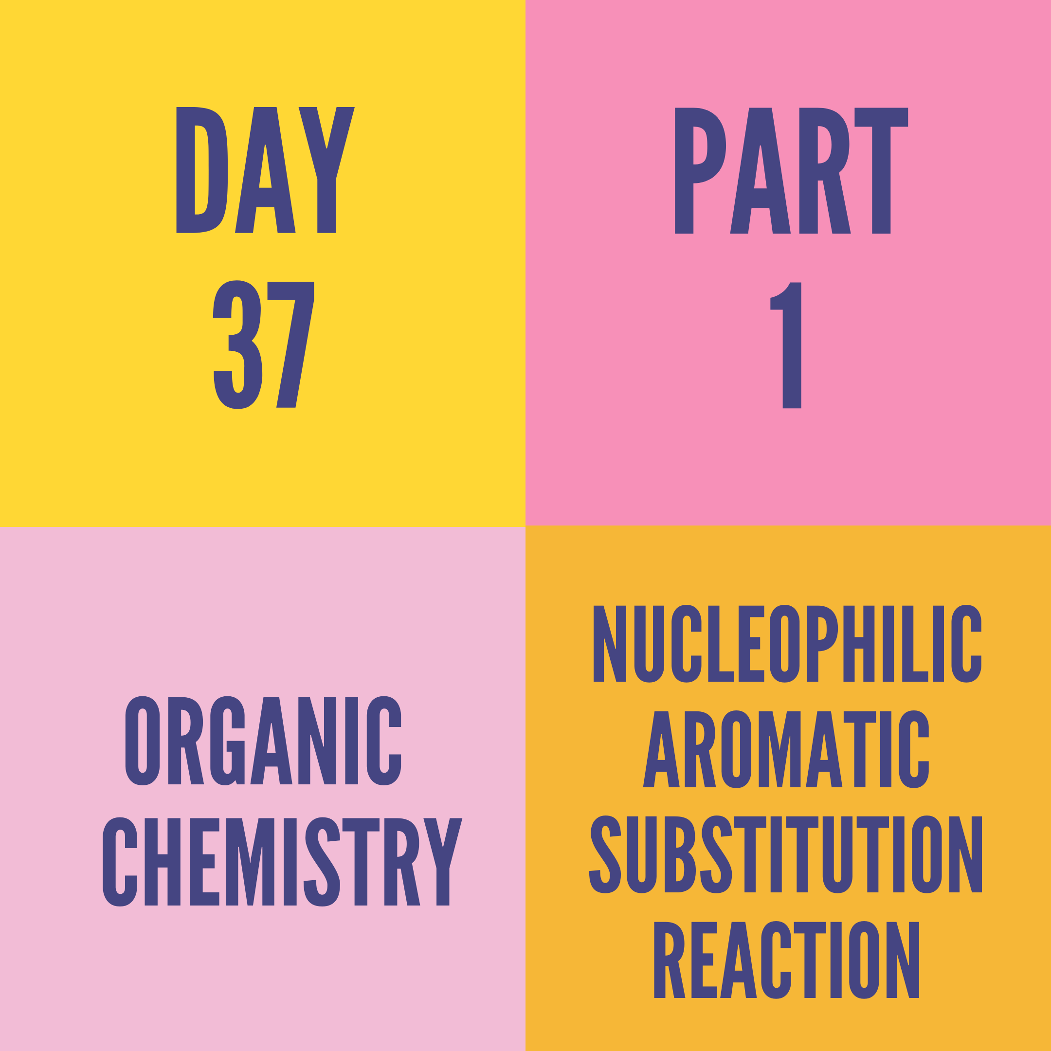 DAY-37 PART-1 NUCLEOPHILIC AROMATIC SUBSTITUTION REACTION
