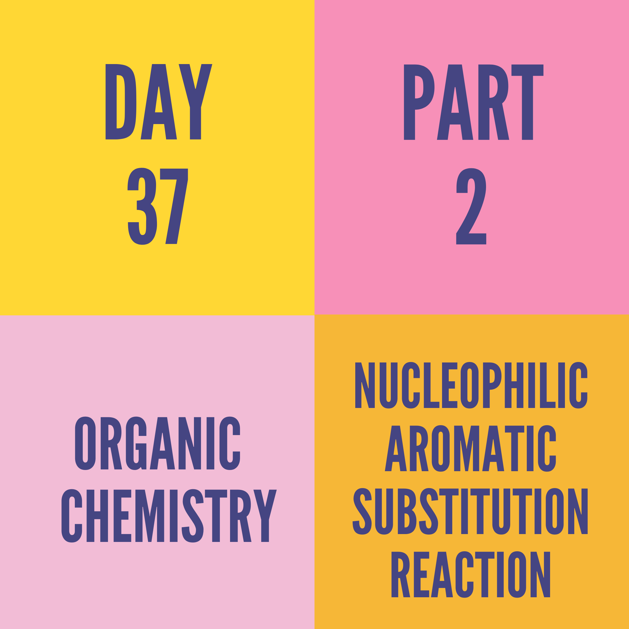 DAY-37 PART-2 NUCLEOPHILIC AROMATIC SUBSTITUTION REACTION