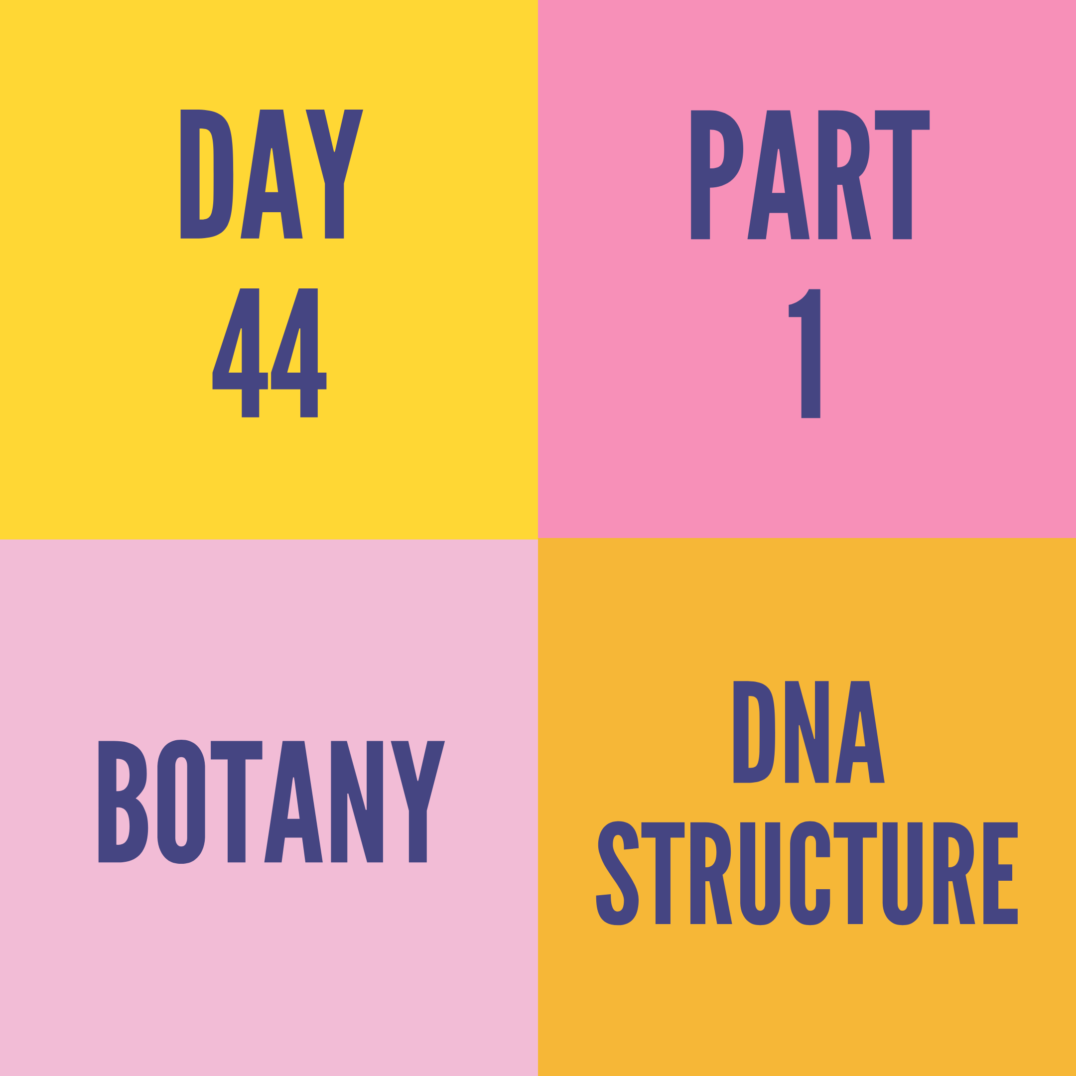 DAY-44 PART-1 DNA STRUCTURE