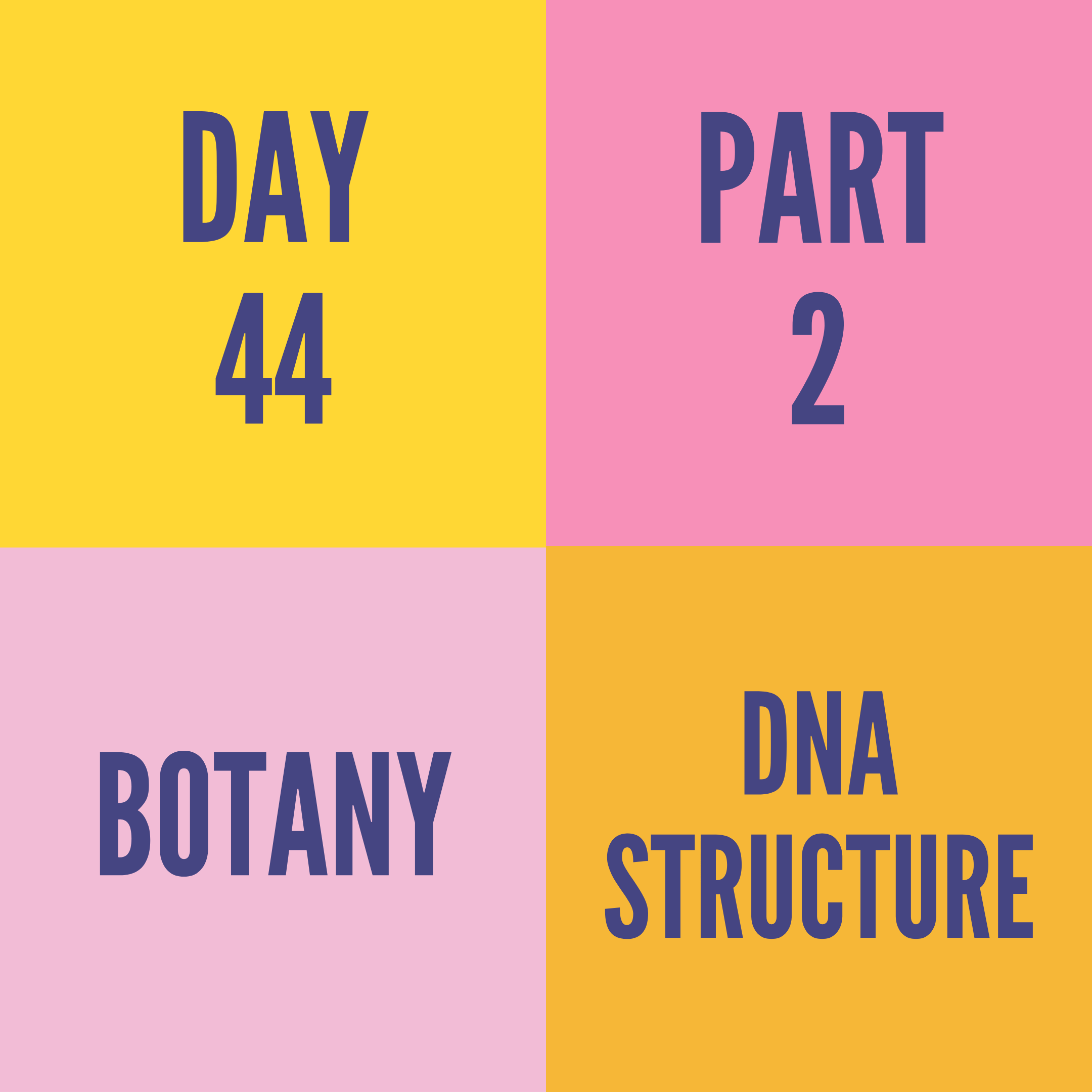 DAY-44 PART-2 DNA STRUCTURE